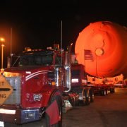 Wide load - space shuttle fuel tank