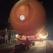 Oversize Load for Space Shuttle Fuel Tank